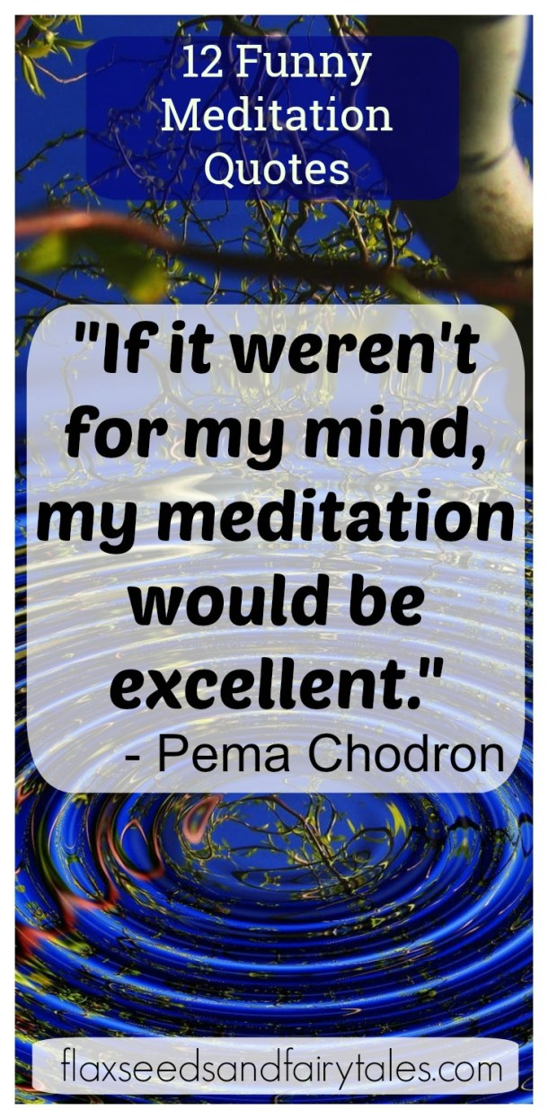 Love these funny meditation quotes! They make me laugh but they're also wise and so true!