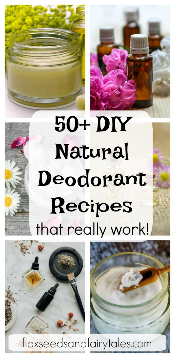 Looking for natural deodorant recipes that work? These 50+ homemade deodorant recipes are simple to make and super effective! The best DIY natural deodorant recipes on Pinterest! Make the best DIY natural deodorant with essential oils and more. Great for senstive skin! Includes stick and spray recipes that use bentonite clay, arrowroot, beeswax, magnesium, tea tree oil, and more!