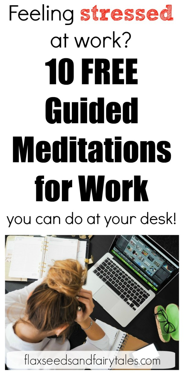 These free guided meditations really helped me with work stress! I tried #2 the other day and it instantly reduced my stress and increased my focus at the office. Highly recommend!