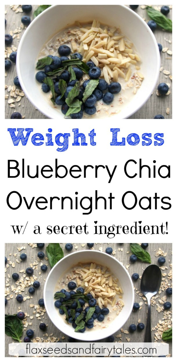 I love these blueberry overnight oats with chia seeds! Best easy overnight oats recipe I've ever tried. Vegan, gluten free, dairy free, and healthy! Made simple with almond milk, chia seeds, blueberries, and a secret ingredient that takes it over the top! YUM! #overnightoatsrecipe #bestovernightoats #healthyovernightoats