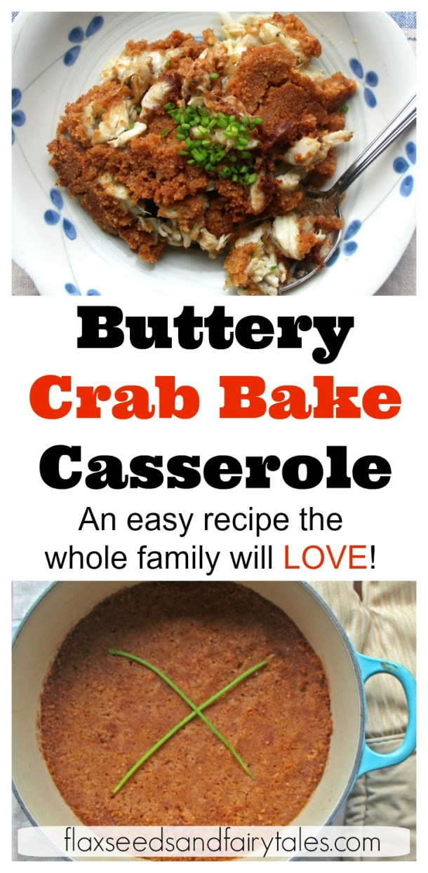 My whole family loved this easy lump crab casserole recipe! I just threw it in the oven, baked it, and dinner was ready! I can't believe how good it was! Will make again. #lumpcrab #crabrecipes #crabcasserole #crabrecipescasserole #crabbake