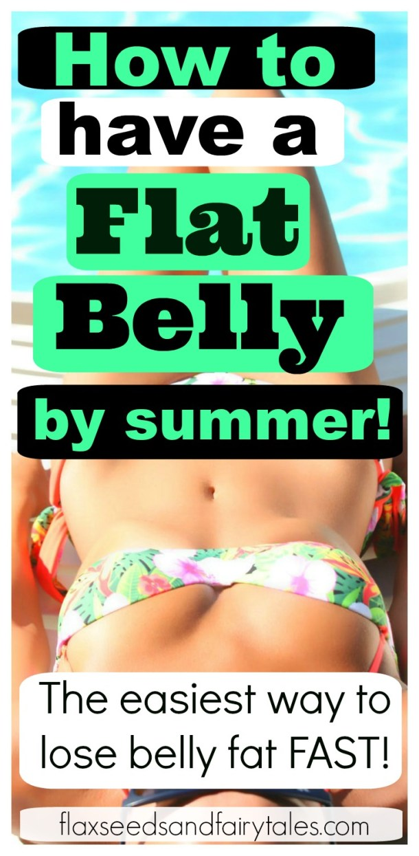 Want a flat belly by summer? These easy workout and diet tips will show you how to get a flat stomach super fast! Great for women who want to lose weight quickly at home! #bikinibody #flatbelly #flatstomachtips #losebellyfat