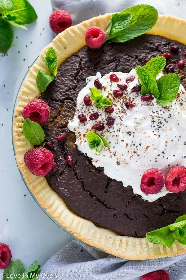 Grain free paleo chocolate pie recipe