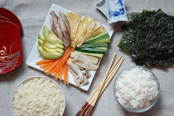 Low carb keto sushi bowls