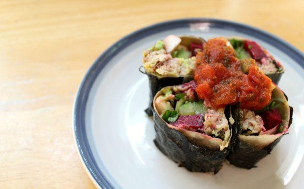 Low carb keto sushi burritos