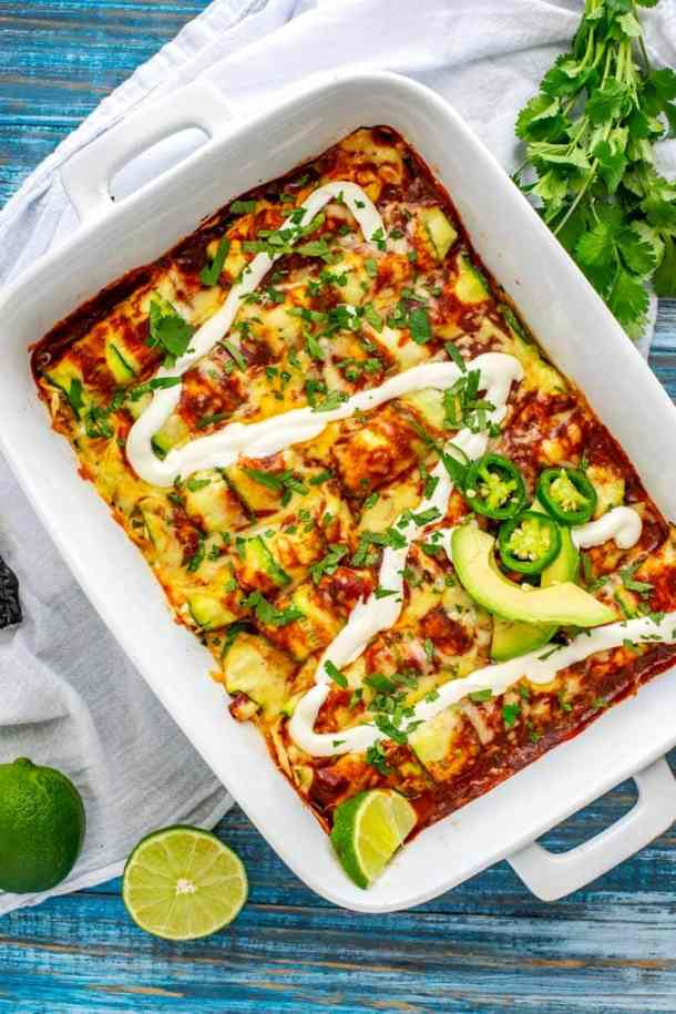 Healthy zucchini enchiladas that will help you lose weight fast on a budget