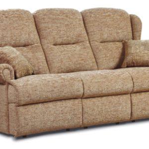 Malvern Small Fabric Fixed 3-Seater Settee