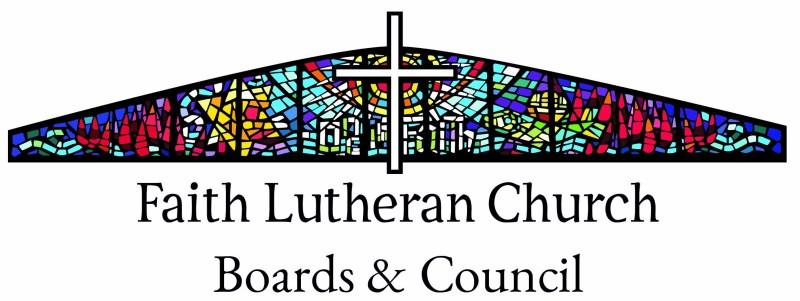 Faith Lutheran Church Council and Boards header