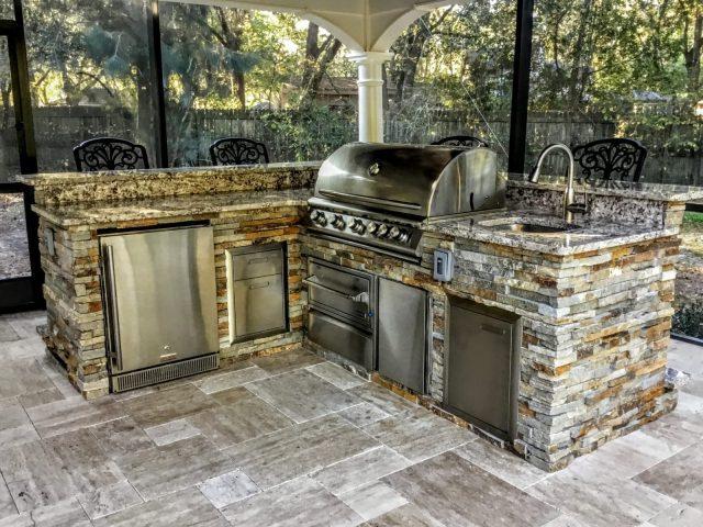 creative outdoor kitchens of florida home - creative outdoor