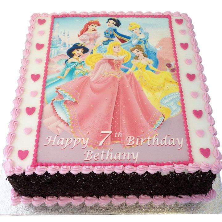 Disney Princess Birthday Cake Flecks Cakes