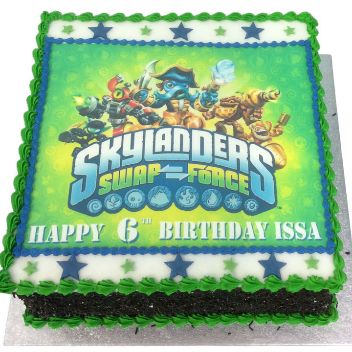Skylanders Birthday Cake Flecks Cakes
