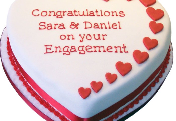 Heart Engagement Cake Flecks Cakes