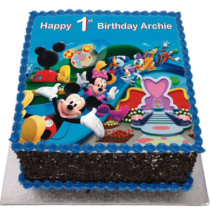 Mickey Mouse Clubhouse Birthday Cake Flecks Cakes