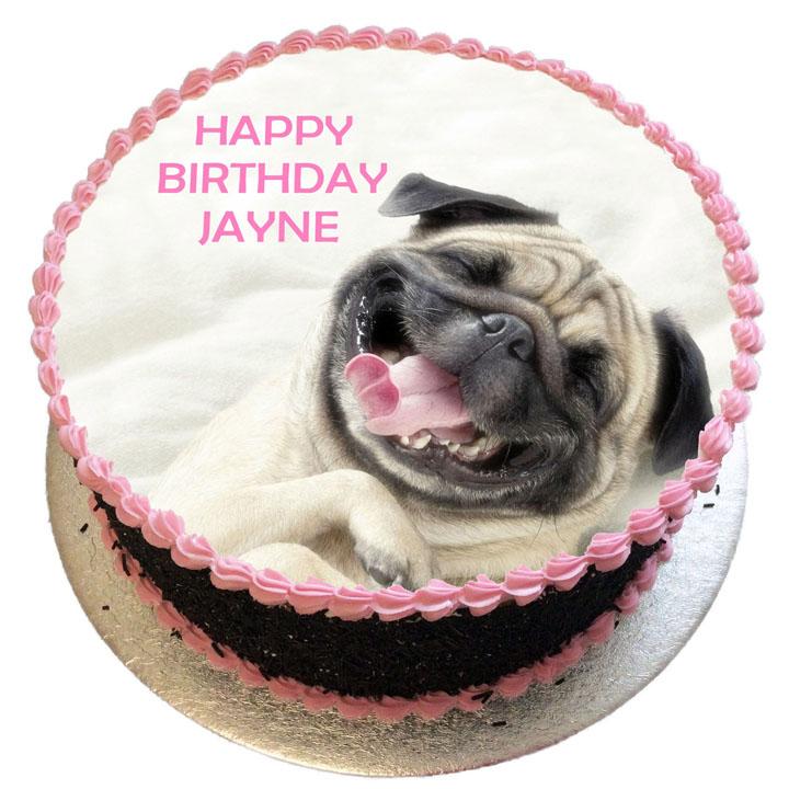 Pug Birthday Cake Flecks Cakes