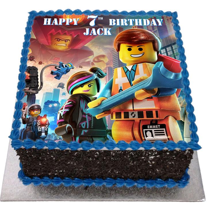 Lego Movie Birthday Cake Flecks Cakes