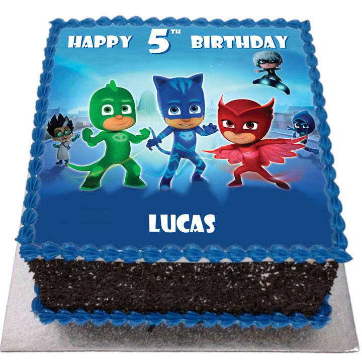 Pj Masks Birthday Cake Flecks Cakes