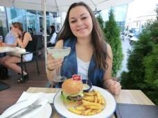 Burger og margarita