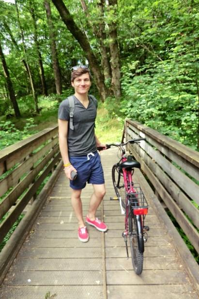 David with hsi bike