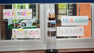 'He is Risen' Window 7