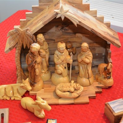 Woodcarvings and Crafts from Palestine, c/o Bee Griffiths (tel: 01252 660599)