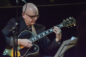 Colin Oxley at Fleet Jazz on the 21st February 2017. Photograph courtesy of David Fisher (Aldershot, Farnham & Fleet Camera Club).