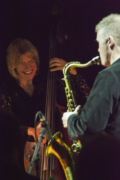 Iain Ballamy and Marianne Windham at Fleet Jazz on 21st February 2017. Photograph courtesy of David Fisher (Aldershot, Farnham & Fleet Camera Club)