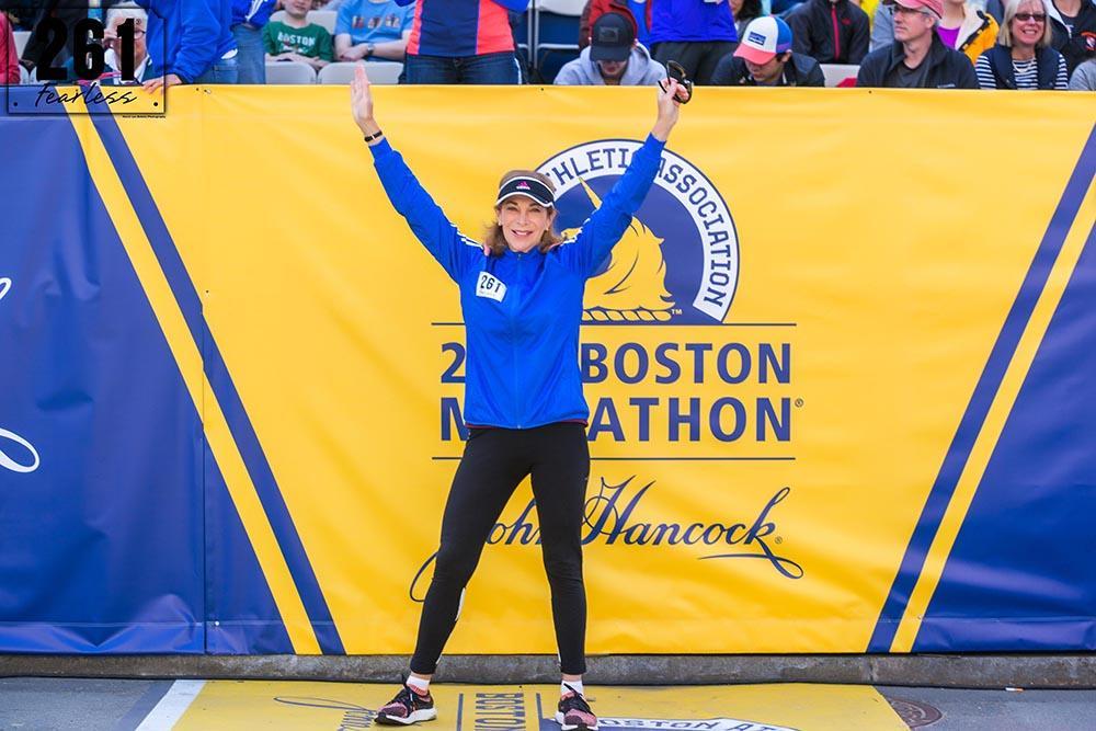 Kathrine Switzer at the 2017 Boston Marathon