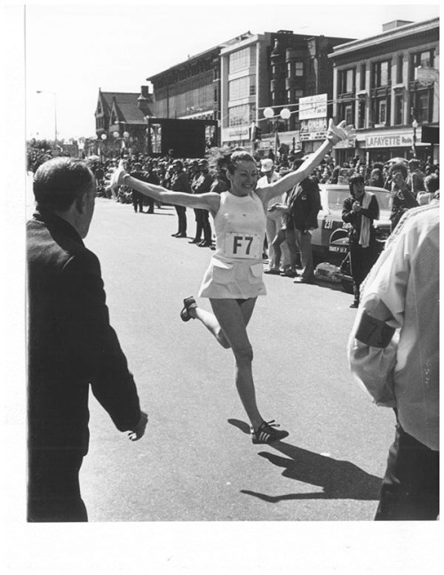 Kathrine Switzer at the 1975 Boston Marathon