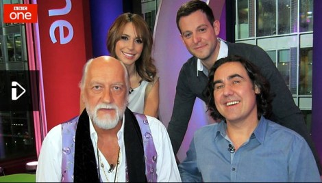 Mick Fleetwood ONE Show 28th Jan 2013