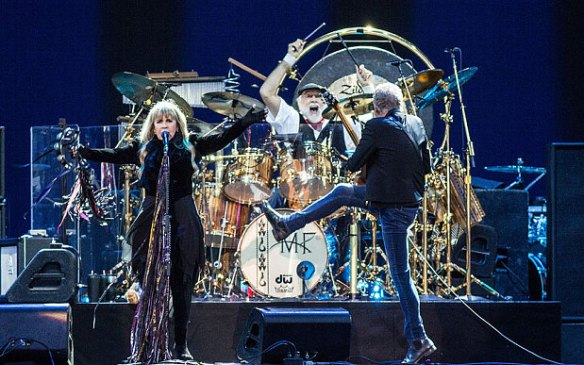 Fleetwood Mac performing on the Main Stage at the Isle of Wight Festival  Photo: Rex Features/Shutterstock