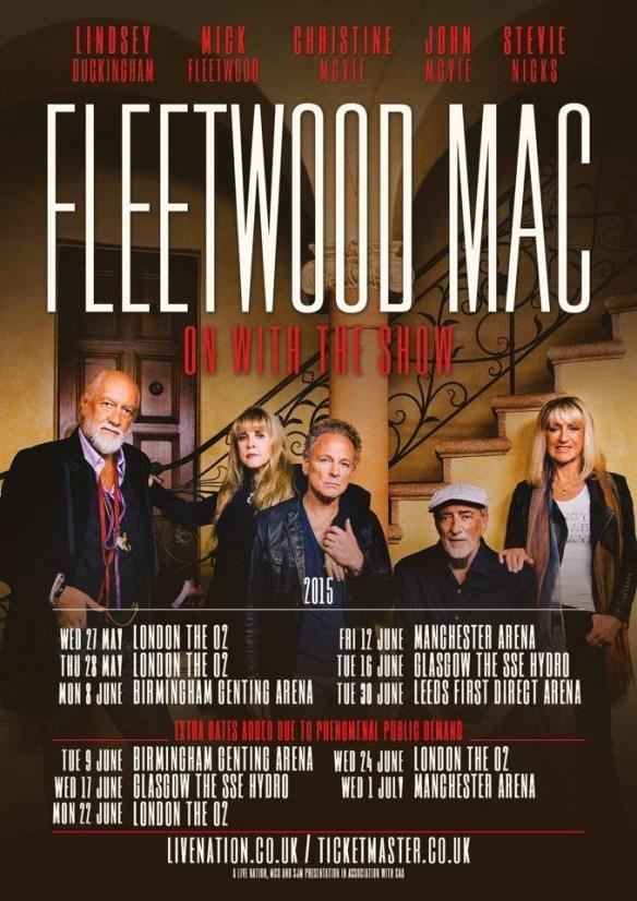 Fleetwood Mac UK 2015 Tour