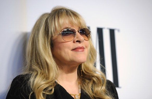 "FILE - This May 13, 2014 file photo shows Stevie Nicks, winner of the BMI Icon Award, at the 62nd Annual BMI Pop Awards in Beverly Hills, Calif. Nicks' two-month tour kicks off Oct. 25 in support of her 2014 album ""24 Karat Gold: Songs From the Vault,"" her sixth top 10 album on the Billboard 200 chart. (Photo by Chris Pizzello/Invision/AP, File)"
