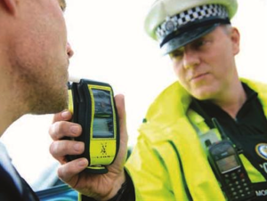 Police administer drink driving test