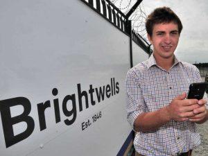 James Summerfield of Brightwells using the new app.