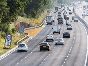 Bright orange emergency refuge area trialled for smart motorways