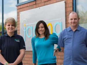 New Jaama recruits (left to right) technical support advisors Abbi Storer, Aimee Lund and Gerald Hyde.