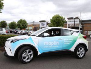 Liveried Toyota C-HR on Maplin fleet