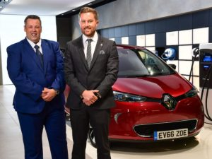 Electric vehicle sales support specialists at Renault