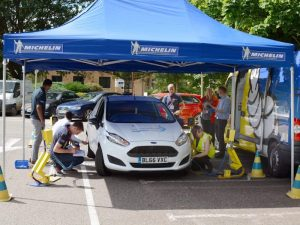 Michelin tyre tests at Anglian Water staff carpark
