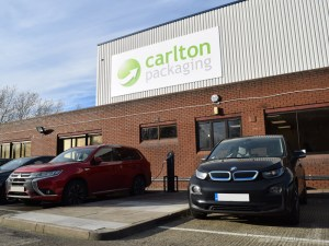 Carlton Packaging charging points are amongst the first to be installed under the Milton Keynes Go Ultra Low Cities infrastructure programme