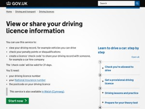 share driving licence information