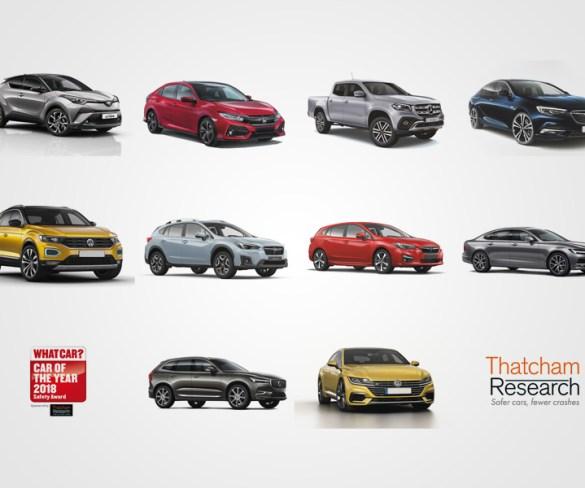 Thatcham reveals top 10 safest cars
