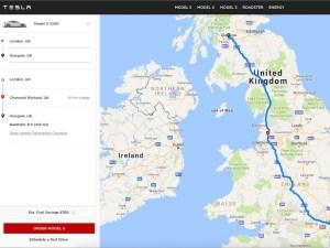 Tesla's trip planning tool is