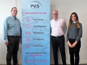 PVS founder and managing director Marcus Puddy (left) with sales director Paul Tregale and asset finance assistant Imma Matcham.