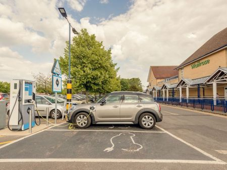GeniePoint charger in Petersfield town centre, next to the main Waitrose supermarket