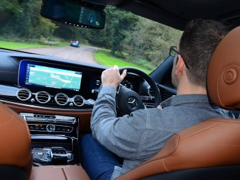 Driving Mercedes-Benz