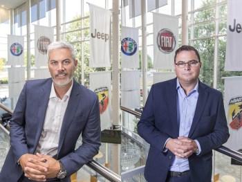 Left: Iain Montgomery, sales director, Alfa Romeo and Jeep. Right: John MacDonald, director, Mopar service, parts and customer care