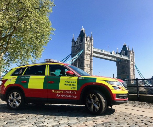 Škoda fleet provides vital support for London's Air Ambulance