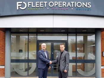 (L-R) Richard Hipkiss welcomes new chief information officer David Gallimore to Fleet Operations
