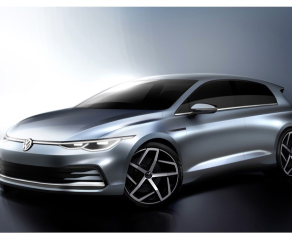 Volkswagen Golf previewed in design sketches